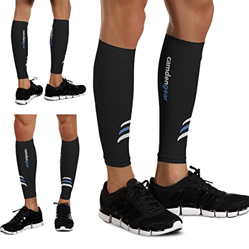 Calf Compression Sleeve by Camden Gear - Helps Shin Splints. Leg Socks for Men and Women