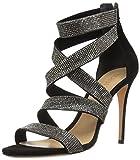Schutz Women's Jia Heeled Sandal, Black, 10 M US