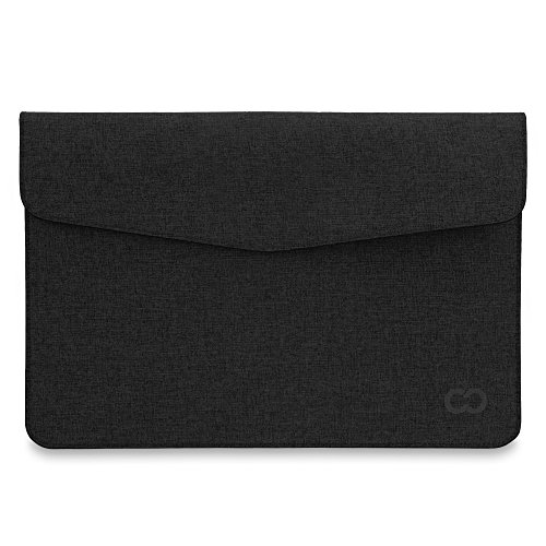 CaseCrown Campus Sleeve/Slim Canvas for 15 Inch MacBook Pro Laptop (Black Stealth)