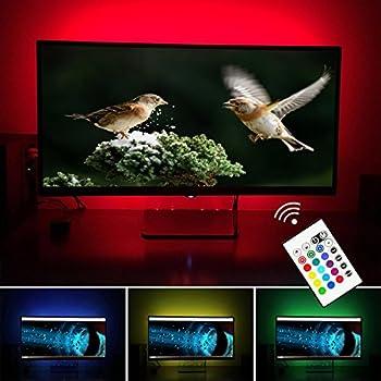 Simptech Led Strip Lights TV Backlight Bias Lighting for 32 to 60 Inch Flat HDTV & Amazon.com: TV LED Backlight 60 65 70 Inch TV Bias Lighting - USB ... azcodes.com