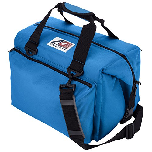 (AO Coolers Traveler Original Soft Cooler with High-Density Insulation, Royal Blue, 24-Can )