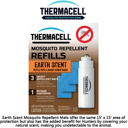 (Thermacell Mosquito Repellent Refill Pack, Earth Scent, for Hunting or Fishing - E-1)