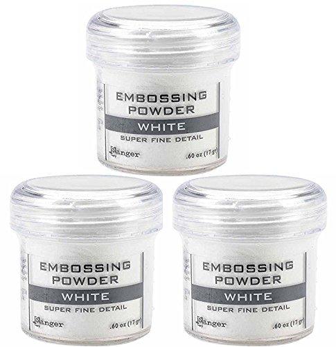 (Ranger Embossing Powder White Super Fine Detail .60 oz, 3 Pack )