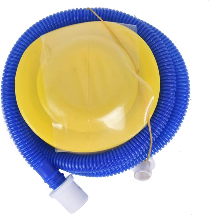 Gogogo 1Pcs Pump Inflator Portable Inflatable Tools Hand Foot Air Compressors for Ball Balloon Swimming Ring Lightweight Plastic Easy to Use-Blue /& Yellow