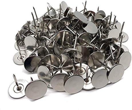 100pcs Silver Flat Push Pin Pins Thumb Tack 14*20mm