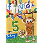 Boys 5th Birthday Card Five Today Second Nature Childrens Hide & Seek Cards