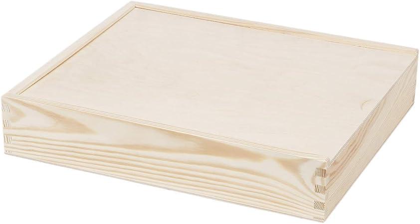 Grandes Caja imágenes 28 x 33 cm caja de madera tapa deslizante Caja Madera: Amazon.es: Hogar