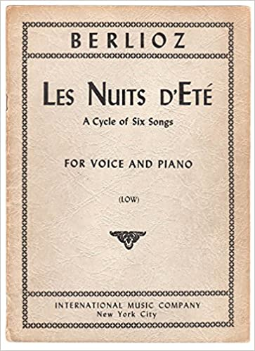 les nuits dete complete song cycle in full score and vocal score