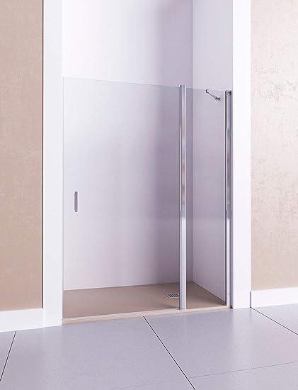 Modelo CIRCE - Mampara de ducha frontal de 1 hoja fija y 1 puerta ...