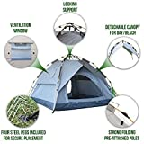 DFPP Outdoor Instant Camping trekking Tent 3-Person Automatic Easy 3-Step Setup Family Tent