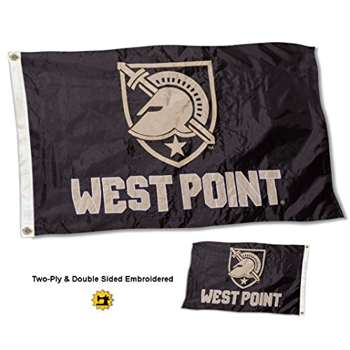 College Flags and Banners Co. Army Black Knights Athena Logo Double Sided Nylon Embroidered Flag