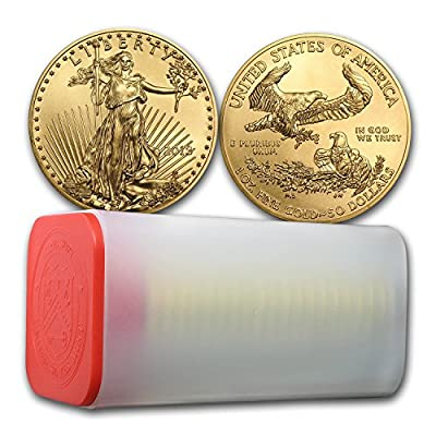 2018 1 oz Gold American Eagle Coin BU (Lot of 20, 1 Tube / Roll) Brilliant Uncirculated