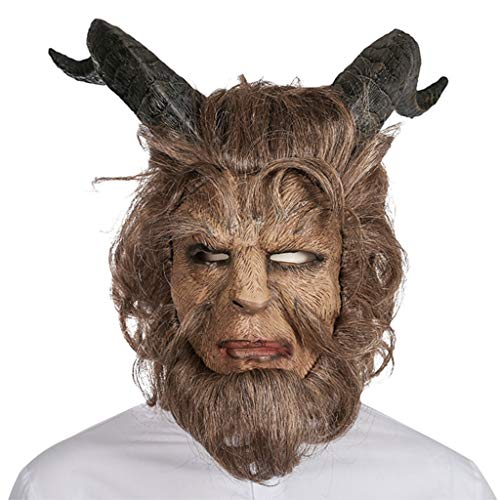 Masks Halloween Christmas Film Beauty and Beast Funny Beast Headgear Cosplay Props Dance Makeup Headgear Dress Up & Pretend Play (Color : Brown, Size : 44CM/17inch)