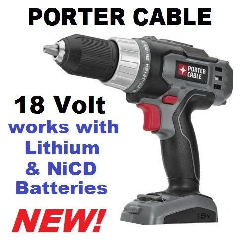 Porter Cable PC1801D 18v Ni-cd or lithium-Ion Driil (Bare...