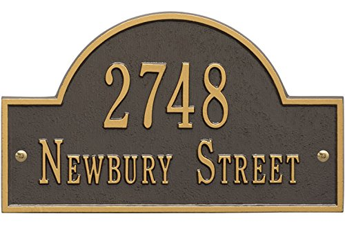 Whitehall Arch Marker Standard Address Plaque Finish … (2-Line, Bronze (Whitehall Arch Marker)