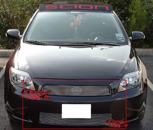 APS Compatible with 2005-2010 Scion TC Billet Grille Grill Combo Insert T67930A ()