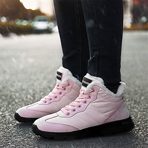 Bottes Homme Randonnée Bleu Rose Haute Sneaker Trekking Cheville Hiver Chaussures Femme Chaude 36 Boots Jaune Neige Cuir 46 Winter Fourrees Noir UOxarwU