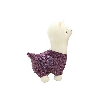 "Purple Alpaca Plush 6/"" Approx New"