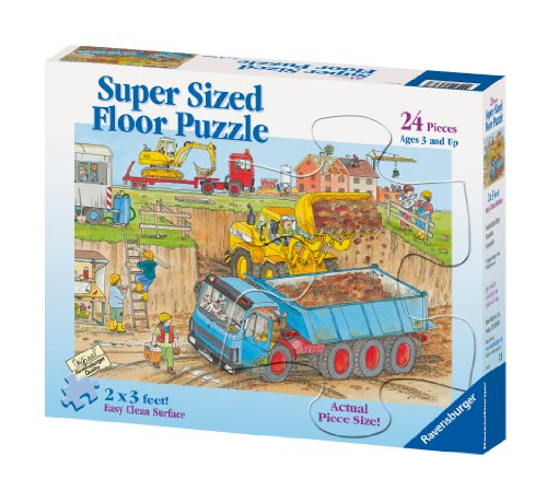 Ravensburger Construction Duty - 24 Piece Floor Puzzle Construction Duty Floor Puzzle