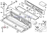 BMW Genuine Folding Convertible Top Compartment