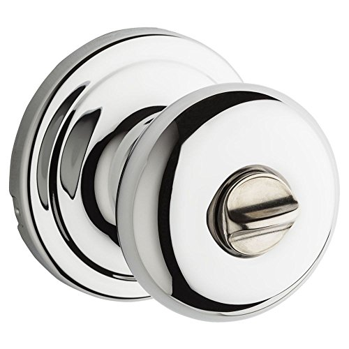 Kwikset 97300-863 Hancock Privacy Bed/Bath Knob in Polished Chrome - Chrome Privacy Door Knob