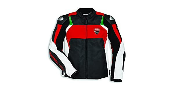 Amazon.com: Ducati Corse C3 Perforated Leather Jacket - Size ...