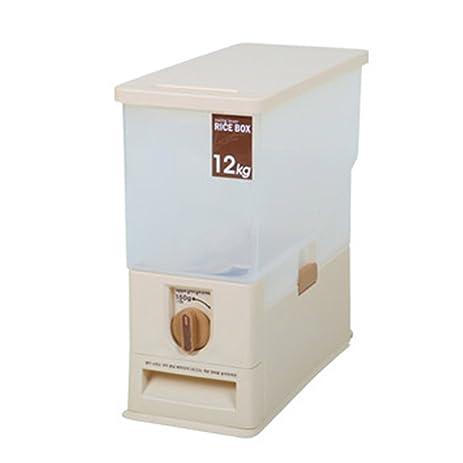 [Kitchen Essential]Swing Lever Auto Measure Rice Storage Dispenser 24  Pounds/Perfect