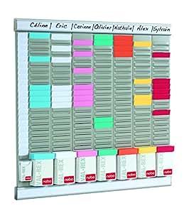 Nobo 490901 - Panel organizador para oficina de 8 columnas y 24 ranuras
