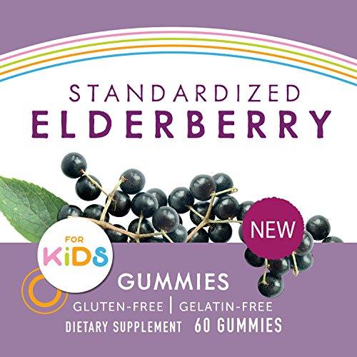 اسعار Nature's Way Sambucus Elderberry Gummies for Kids, Herbal Supplements with Vitamin C and Zinc, Gluten Free, Vegetarian, 60 Count