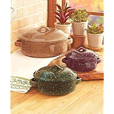 Set of 3 Covered Casseroles Cookware Set by KNL Store