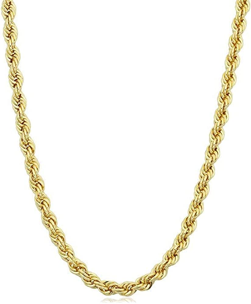 Verona Jewelers 925 shopping Sterling Silver Diamond-Cut Rope Year-end annual account Chain Neckl