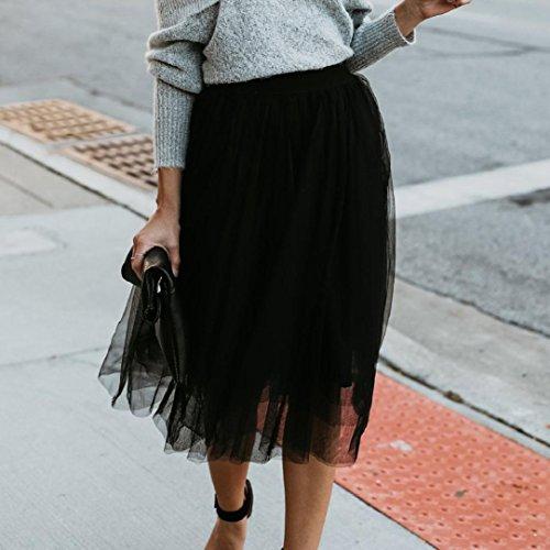 Taille Couleur Unie Haute Jupe Womens Noir Jupe Fashion ESAILQ qtTvw