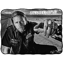 FX Sons Of Anarchy Charlie Hunnam Jax Bold Graphic Fleece Throw Blanket