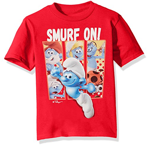 The Smurfs Big Boys' The Lost Village Short Sleeve Graphic T-Shirt, Red, 10/12