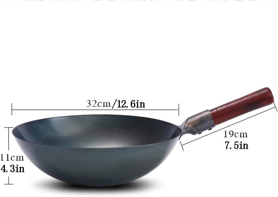 casserole for wok de gros calibre W Wok non rev/êtu en fonte antiadh/ésive casserole en fer /à lancienne Casserole en fer au r/éch wok forg/é /à la main adapt/é /à la cuisini/ère /à induction