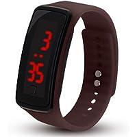 Bambini orologio da polso digitale touch screen LED bracciale Band orologio per bambini sport Watch bracciale Band orologio caffè