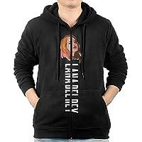 GHGH Men's Lana Del Rey Zip-Up Hooded Sweatshirt Jackets Black