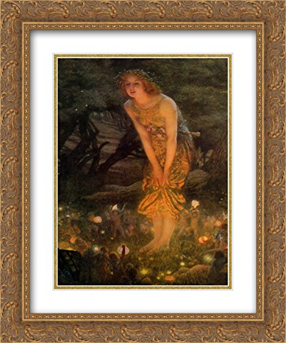 Midsummer Eve, c.1908 2X Matted 15x18 Gold Ornate Framed Art Print by Edward Robert Hughes - Hughes Framed