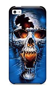Fashionable HvKFQsB1510jEUuE Iphone 5c Case Cover For Screaming Skull Protective Case