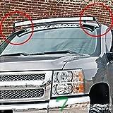08 silverado 1500 pillar - Topline Autopart Black Roof Pillar Light Lamp Bar Mount Brackets Kit For 54