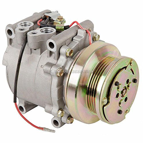 AC Compressor & A/C Clutch For Honda Civic & CRX 1988 1989 1990 1991 Replaces Sanden TR70 9774 9784 4-Groove - BuyAutoParts 60-01088NA NEW