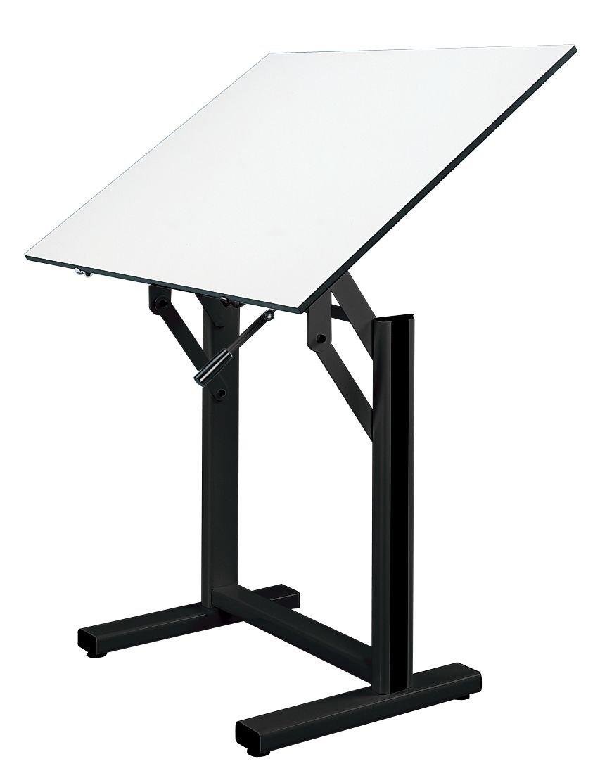 Alvin EN42-3 Ensign Table, Black Base White Top (31'' x 42'')