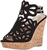 Style by Charles David Women's Alaiah Wedge Sandal, Black, 7.5 M US