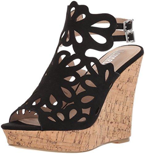 Style by Charles David Women's Alaiah Wedge Sandal, Black, 8.5 M US