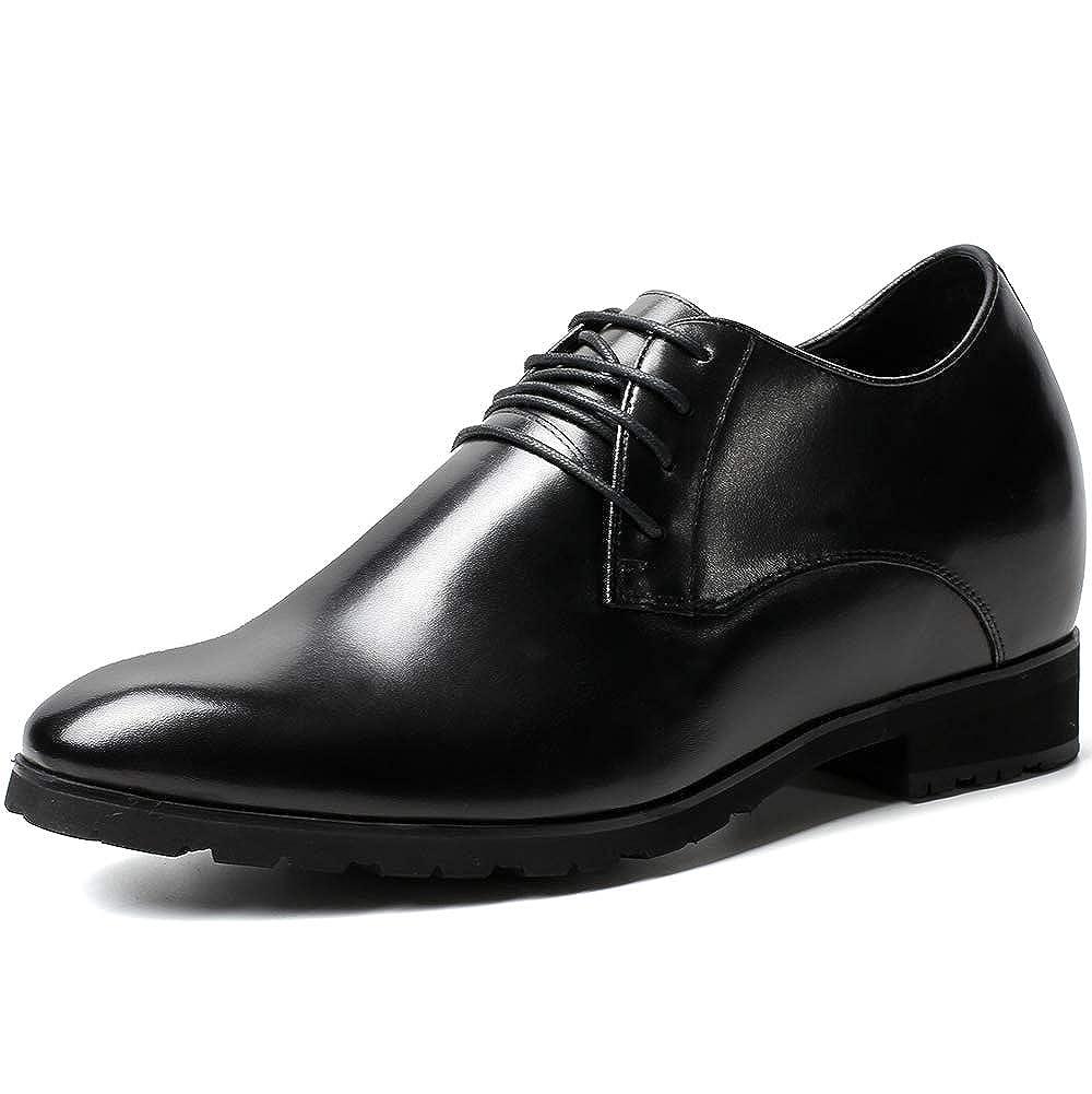 Hauteur 10 cm-H52046N071D CHAMARIPA Chaussures Rehaussantes de Type Oxford Noir pour Homme