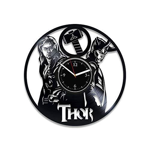 - RainbowClocks Thor Vinyl Wall Clock Thor Clock Loki Clock Thor Xmas Gift Avengers Gift For Man Marvel Comics Vinyl Record Clock Thor Wall Clock Large Marvel Comics Gift Marvel Comics Clock