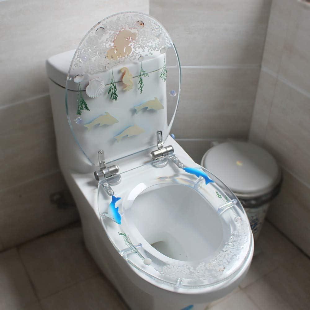 Abattant pour WC Lunettes WC,Conception Ergonomique avec Charni/ères R/églables en Acier Inoxydable /à D/égagement Rapide /à Un Bouton,Couvercle en Forme de H//U//V Antibact/érien
