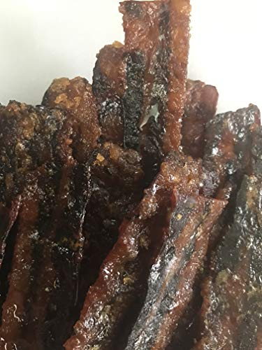 Candied Bacon smoked Jerky Hickory smoked Make it a gift box 17 Delicious Flavors 3 ounces portions Best bacon sale artisan foodie gift box sets ()