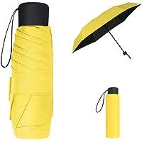 Vicloon Mini Paraguas del Sol,Paraguas de Viaje Portátil con Diseño de Esqueleto Mejorado y 210T Negro Tela de Goma…