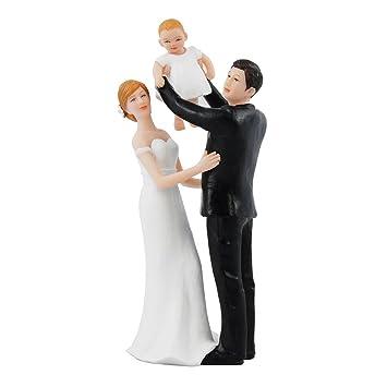 Tortenfigur Braut Und Brautigam Mit Baby Fur Die Hochzeit
